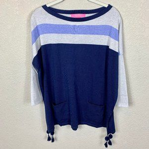 Lilly Pulitzer Sweaters - Lilly Pulitzer Elba Coolmax Blue Striped Sweater S
